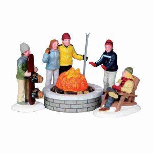 fire pit-fuoco-sciatori-Lemax-04223
