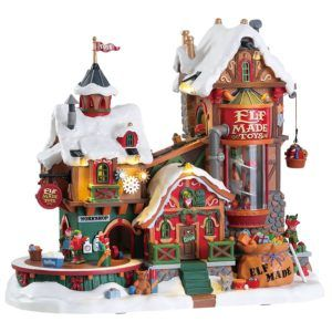 elf made toy-factory-fabbrica-75190-lemax