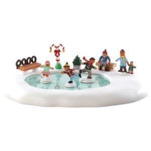 gingerbread skating pond-84352-lemax