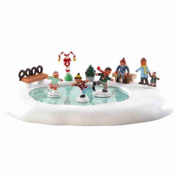 gingerbread skating pond-84352-lemax
