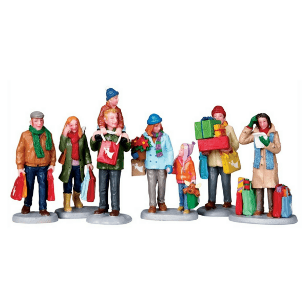 holiday shoppers set 92683 lemax