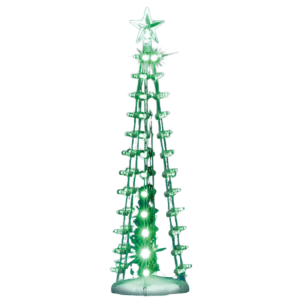 lighted silhouette tree-green-84399-lemax