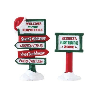 north pole signs set 74325 lemax