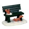 park bench winter 54938 lemax