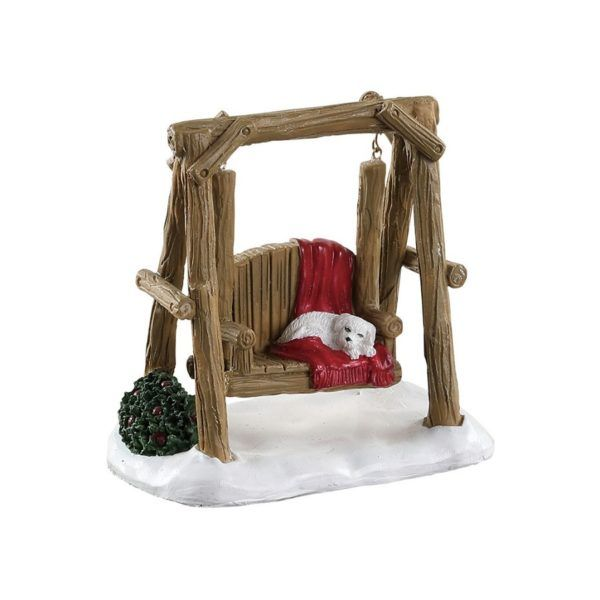 rustic log swing altalena 84363 lemax
