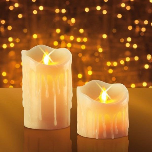 candela flameless luce led batteria