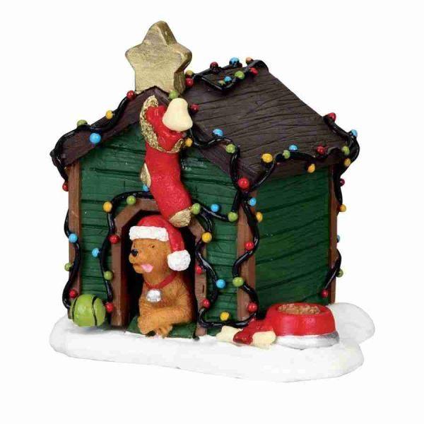 decorated light doghouse 02808 villaggio lemax