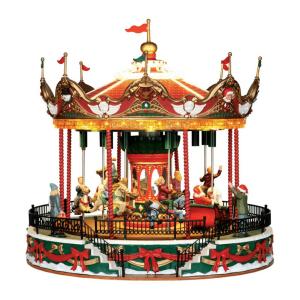 santa carousel 34682 lemax villaggi natalizi