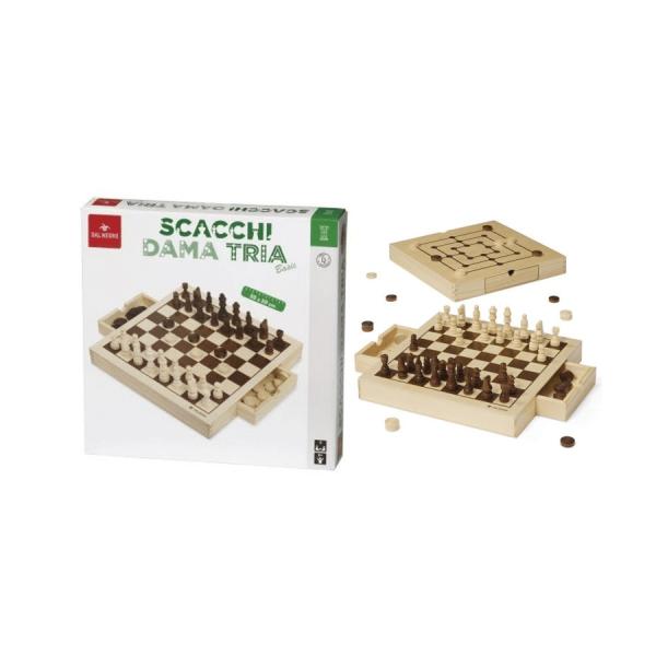 scacchi dama tria gioco dal negro 053908