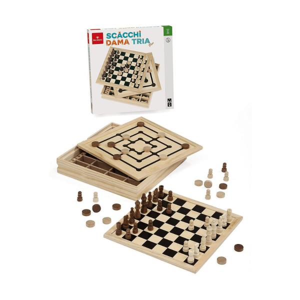 DAMA scacchi tria top gioco dal negro 053909