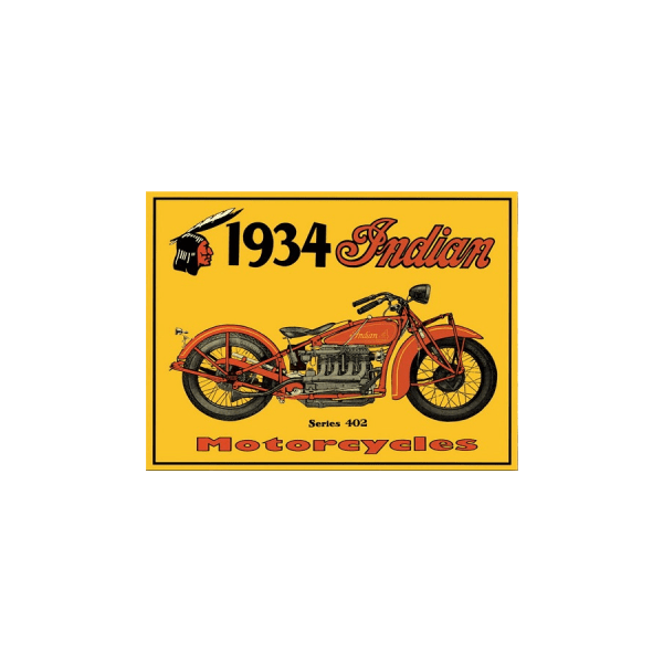1934 indian motorcycles 37 insegna