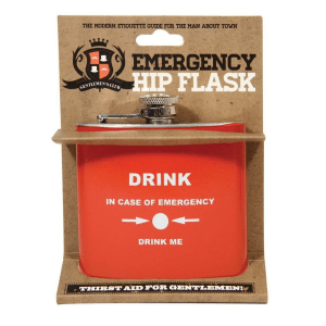 fiaschetta emergency hip flask 6 oz