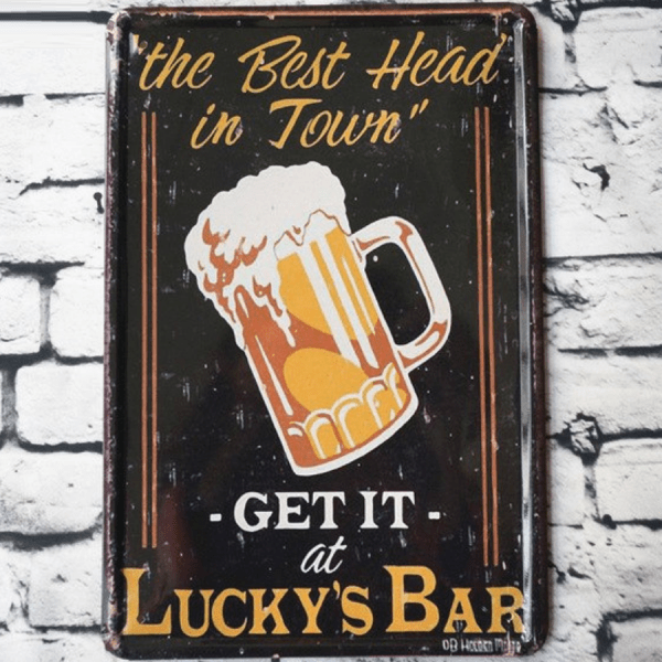 lucky bar the best head in town insegna 1200