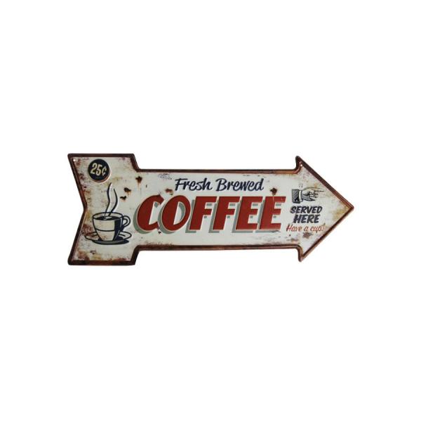 fresh brewed coffee arrow