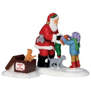 santa and kittens 22045 lemax