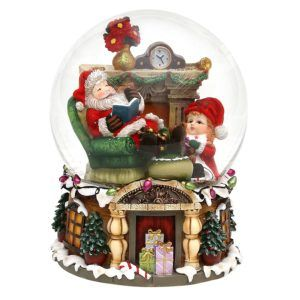 snowball santa 500394 carillon natale