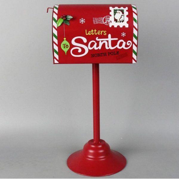 metal mailbox 201369 santa letterine