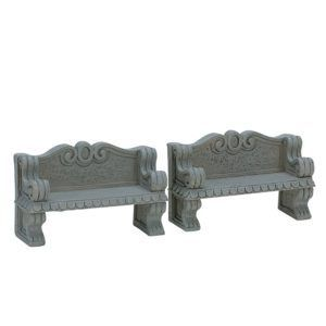 stone bench 74612 lemax