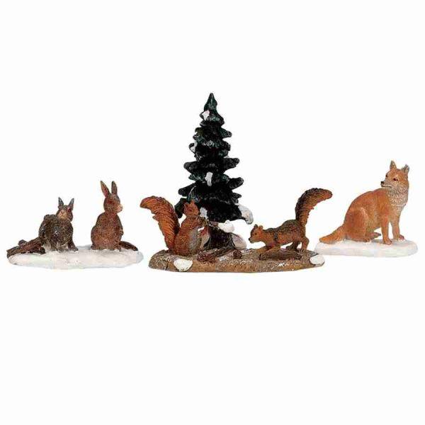 woodland animals 12516 lemax