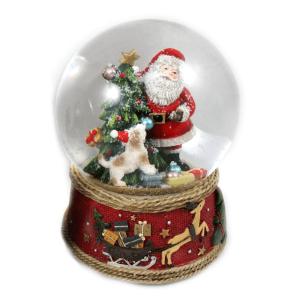 Carillon santa claus regali e albero di Natale