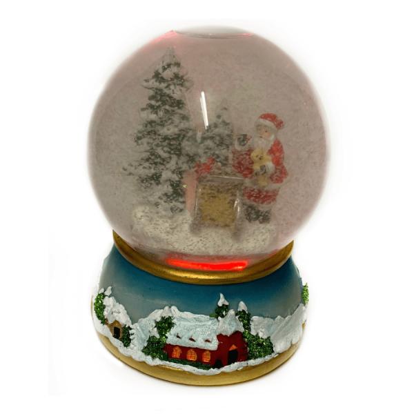 snowball santa color change snowglobe